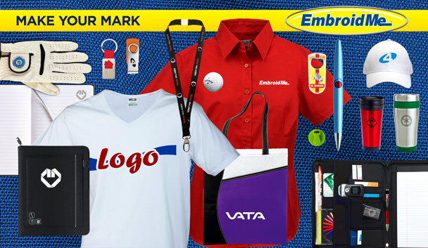 Embroidered printed clothing promotional items